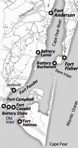 Map of Fort Fisher