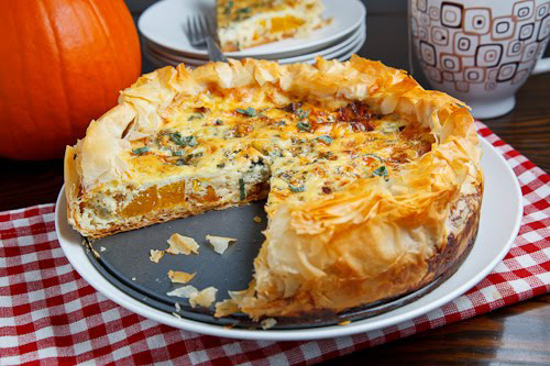 Roasted Pumpkin Caramelized Onion Quiche
