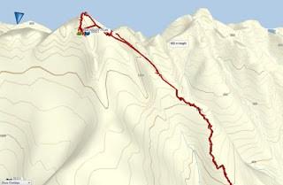 Mackenzie Peak Map and GPS Route, Vancouver Island