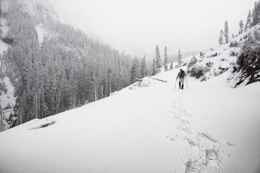 Snowshoeing to Mount Russell on Vancouver Island