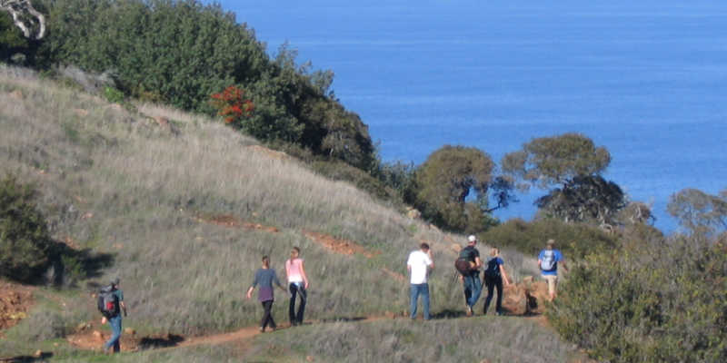 K-12 Education - Student hike the Pelican Trail while enjoying the Ocean view.
