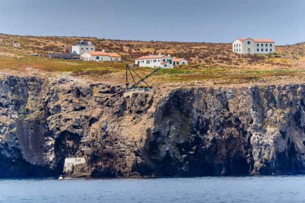 The Landing Cove and Buildings on Anacapa Island