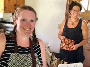 Kala and Kylee making Vancouver Island handmade Beeswax wraps