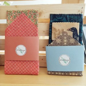 two sets of Vancouver Island made beeswax wraps