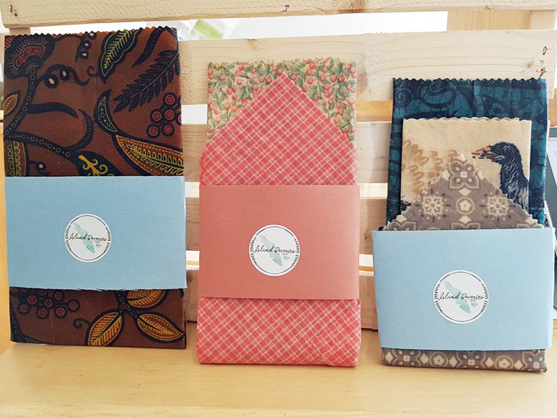 set of 3 vancouver island made beeswax wraps by Island Reveries