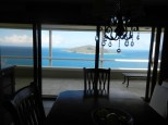 Dining room looking out to view