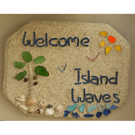 Island Waves Welcome Sign
