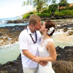 makena cove wedding, secret beach wedding