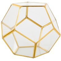 Gold & Brass geometric candle/ flower holder