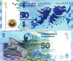 Malvinas billete de 50 pesos dos lados
