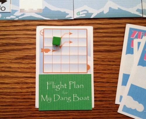 Zeppeldrome flight plan card