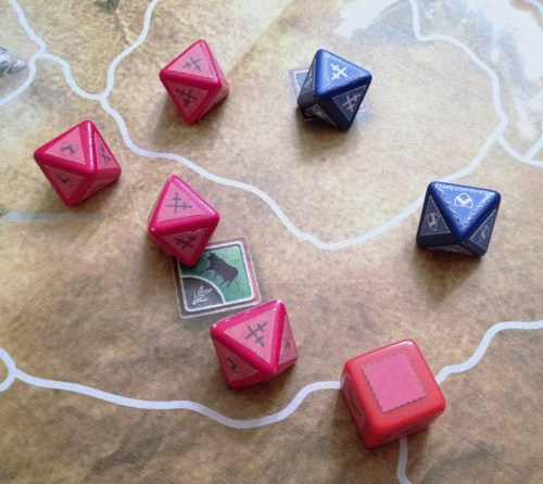 Combat dice...a staple of war games.