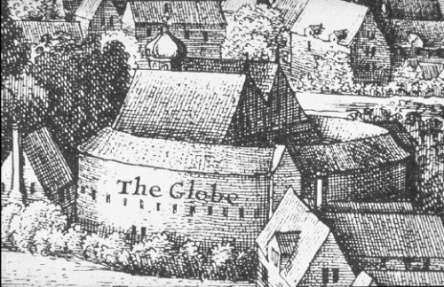 Rendering of the Globe Theatre from Wikimedia Commons.