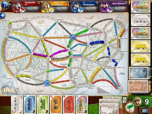 Ticket to Ride app.