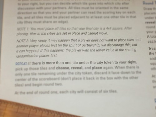 See? It even says it in the rules: this game is meant to be collaborative.
