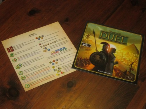 The rulebook is thick, but easy to digest. The rules summary sheet is a boon. If you know how to play 7 Wonders, picking up Duel is a breeze.