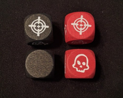The red Horde dice give you a 1-in-6 chance of dying. Yay.