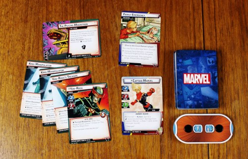 Captain Marvel character card, obligation, and nemesis set