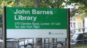 John Barnes Library, which councillor Phil Kelly claimed was not under threat of closure. Image: Islington North Constituency Labour Party