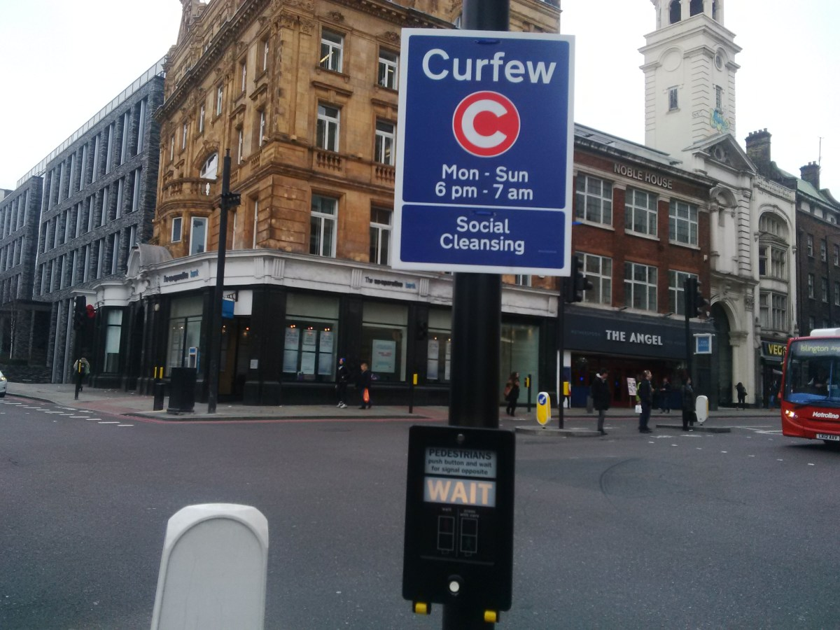 Meet the Islington artist putting curfew signs up in London
