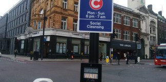 """Curfew"" by Dr D, Islington's City Road"