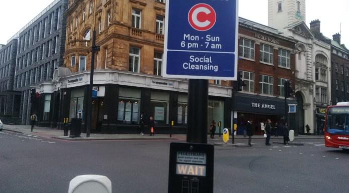 """Curfew"" by Dr D, Islington's City Road"