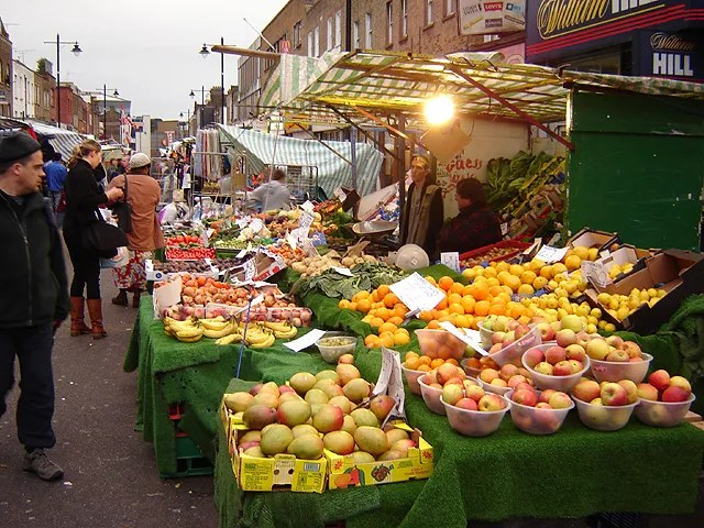 Islington Farmers' Market relocated to the stretch of road in 2010. Credit Fin Fahey