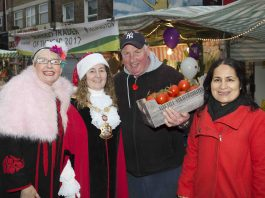 Su Pollard, Cllr. Una O'Halloran, Dave Jackson and Serpil Erce. Photo: Islington Council