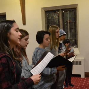 Choir group singing image