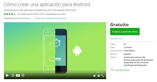 curso udemy gratuito app movil