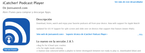 iCatcher! podcast app
