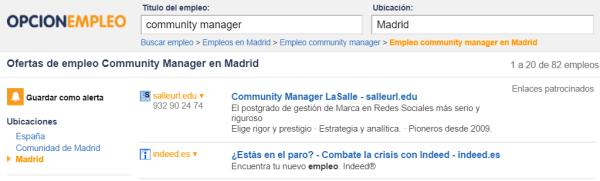 opcion empleo community manager