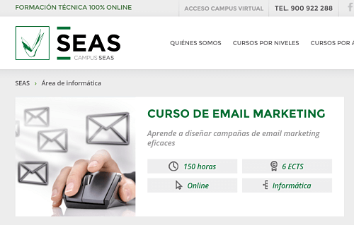 seas curso online email marketing
