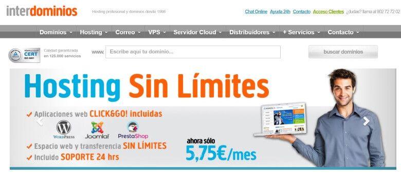 interdominios hosting para mi web