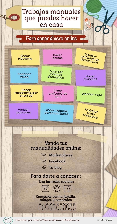 Como Ganar Dinero Online Haciendo Trabajos Manuales - Trabajo-manual-para-hacer-en-casa