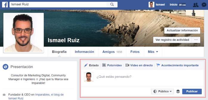 ¿Cómo comenzar a publicaren Facebook?