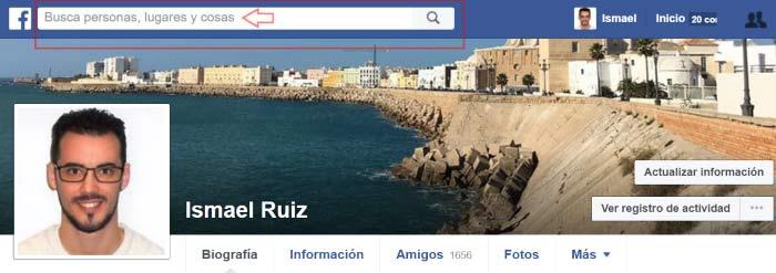 Buscar amigos desde el propio buscar de Facebook