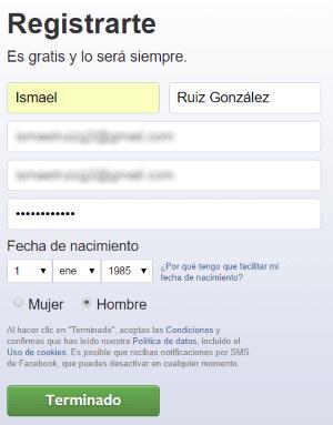 registrarme en facebook gratis en español