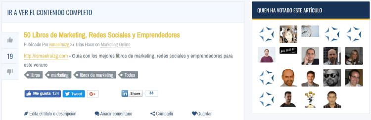 Publicación en el agregador MarketerTOP