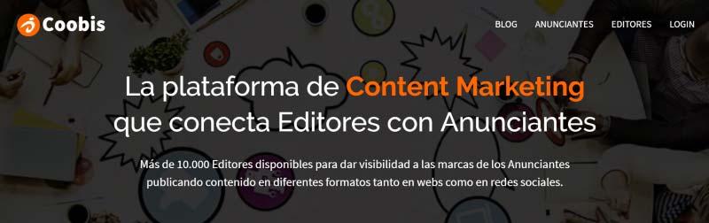 Coobis, plataforma de content marketing