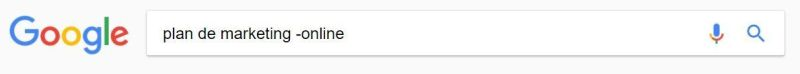 Excluir cualquier palabra en tu búsqueda (-)
