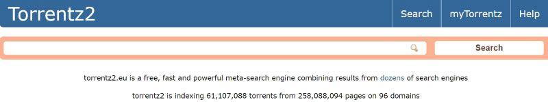 Torrentz2, buscador de torrents
