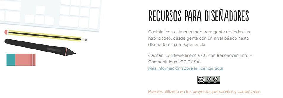 Captain Icon, iconos gratis para diseñadores