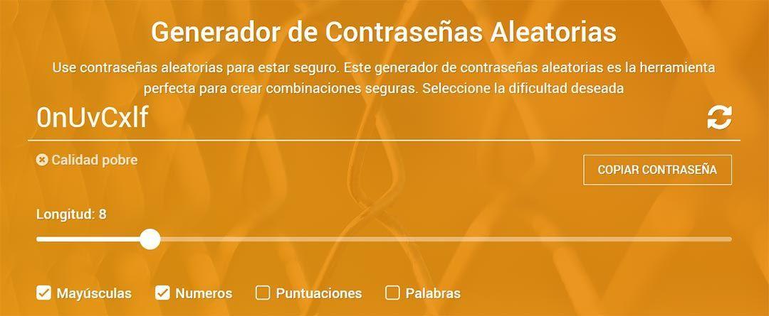 Generador de Contraseñas Aleatorias