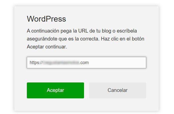 Paso 3» Facilítale a la herramienta tu dominio web
