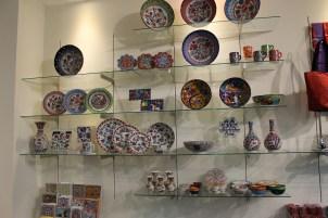 Colorful Iznik ceramic dishes from Turkey.