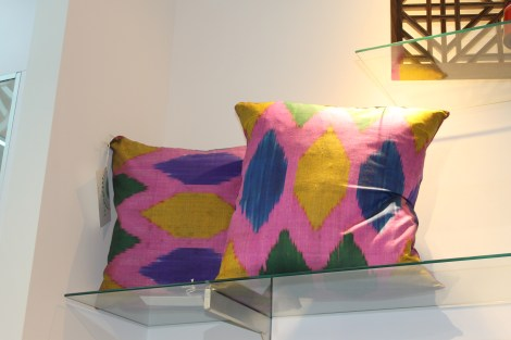 Pillows from Tajikistan with Central Asian motifs - designed by local crafts people.