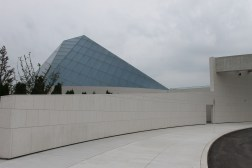 Arriving at the Aga Khan Museum from Wynford Drive.