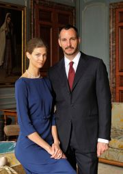 PR - 10 - Prince Rahim Aga Khan and his fiance Kendra Spears pose on April 15, 2013 in France. Photo by Gary OtteThe Ismaili via Getty Images