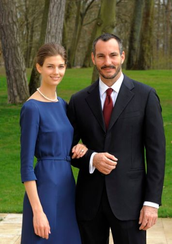 PR - 11- Prince Rahim Aga Khan and his fiance Kendra Spears pose on April 15, 2013 in France. Photo by Gary OtteThe Ismaili via Getty Images